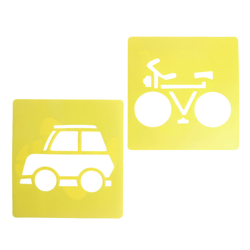 New-6x-Children-Transport-Shaped-Plastic-Painting-Drawing-Template-Stencil-Kids-Toy-4