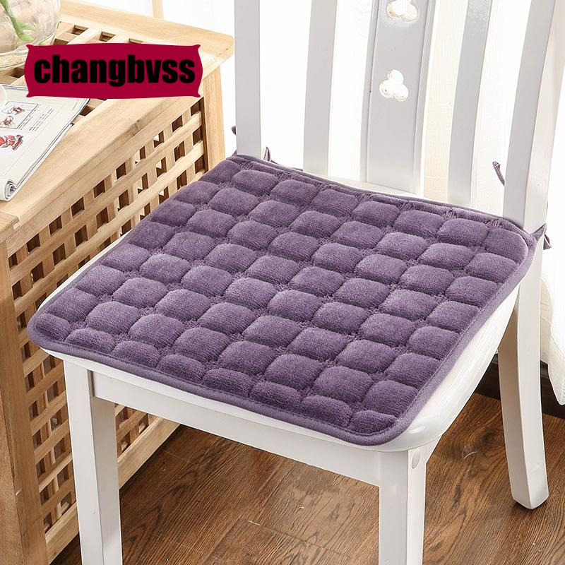 3D Lattice Pattern Flannel Square Seat Cushions Home Decor 40*40cm Kitchen  Office Chair Cushion
