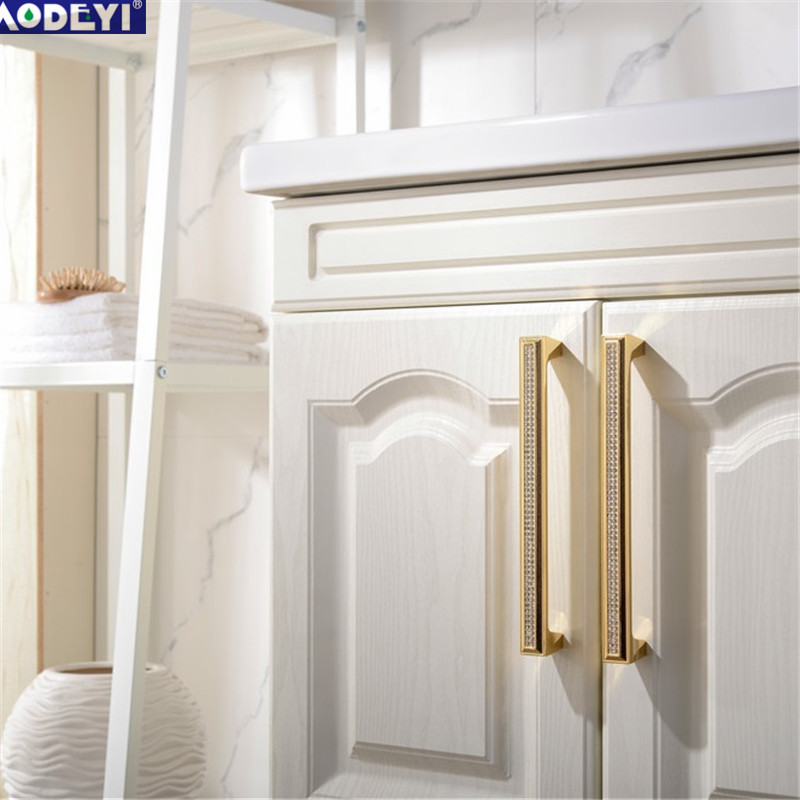 Luxury 24K Real Gold Or Chrome Czech Crystal Drawer Cabinet Knobs Wardrobe Door Handle Furniture Knobs Pull Handles entrance door handle solid wood pull handles pa 377 l300mm for entry front wooden doors