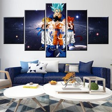 5 Panel Dragon Ball Vegetto/Gogeta/Goku Canvas Printed Painting For Living Room Wall Art Home Decor HD Picture Artworks Poster