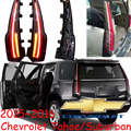 Carro-styling, Farolete Tahoe, 2015 ~ 2017,2 pçs/set, led, Livre O navio! Tahoe nevoeiro luz; cromo, suburban cauda lâmpada, carro-detector,