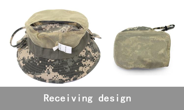 Chapéu camuflado uso externo masculino, chapéu tipo