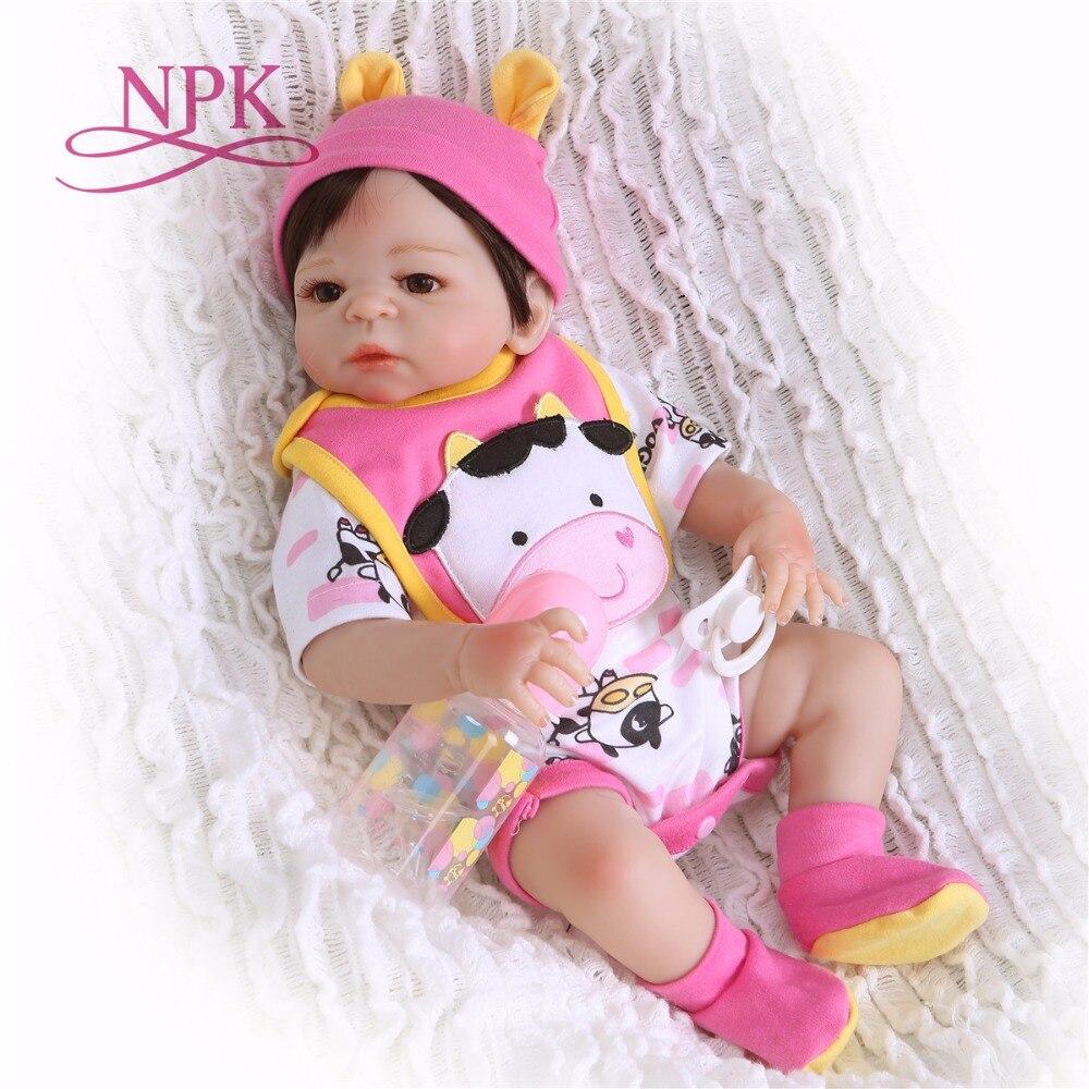 NPK Doll 19inch 48cm little cow bebes Reborn Baby Dolls full Silicone Reborn Bebe Doll Vinyl