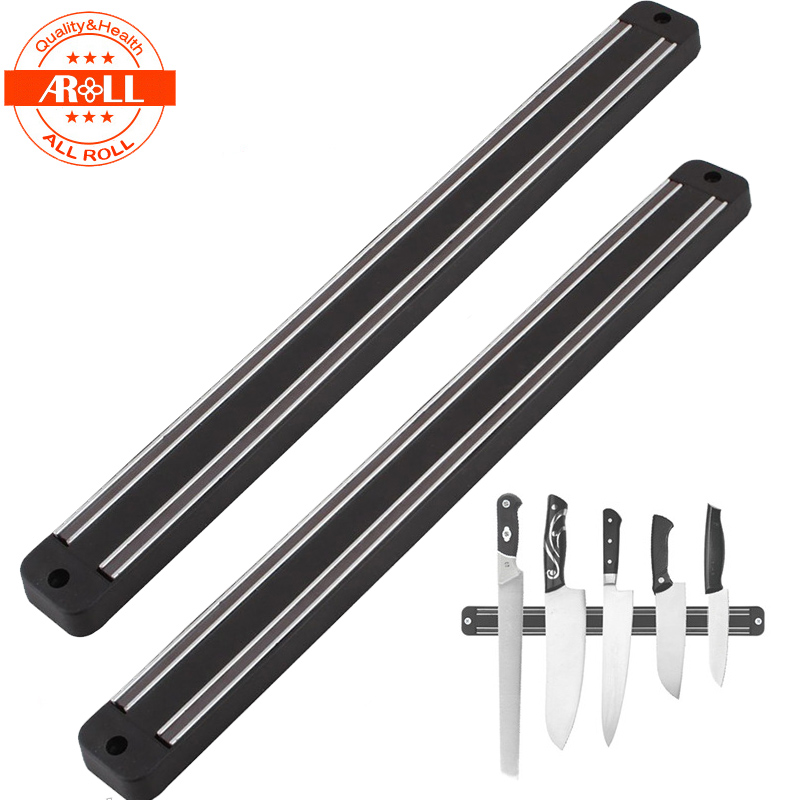 Magnetic Magnet Knife Holder Rest Wall Mount Knives Racks Stripe Holder Bar Shelf Organizer Home Kitchen Knives Accessories