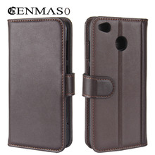 Redmi 4X Genuine leather flip case for Xiaomi Redmi 4X flip wallet stend back cover luxury cases soft TPU soft back cover case
