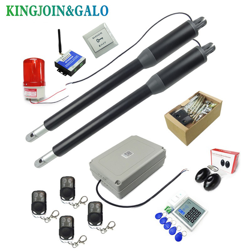 Free shipping 24V DC Basic Kit Dual Heavy Duty Metal Swing Gate Opener/Automatic Door Operators For Access control with remote free shipping heavy gauge 16oz can crusher with bottle opener kitchen tools also suitable for 12oz