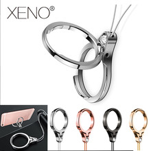 Mobile Phone Straps Universal Finger Ring Stand Holder mobile stand lazy neck Strap phone ring squishy lanyard for keys