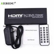 Kebidu 1080P 3D 4x1 HDMI Multi Viewer HDMI Quad Screen Echtzeit Multi Viewer HDMI splitter Nahtlose Switcher mit IR Control