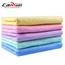 Банное полотенце из микрофибры, высокоабсорбирующие салфетки, волшебное сухое полотенце для волос, синтетическая оленья кожа, PVA Chamois Cham 43*32CM