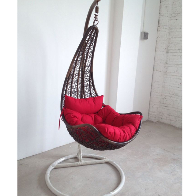 Moon Chairs For Adults Patio Bar Height Rattan Basket Hanging Outdoor Chair Cradle Rocking Indoor Leisure Swing Send Cushion
