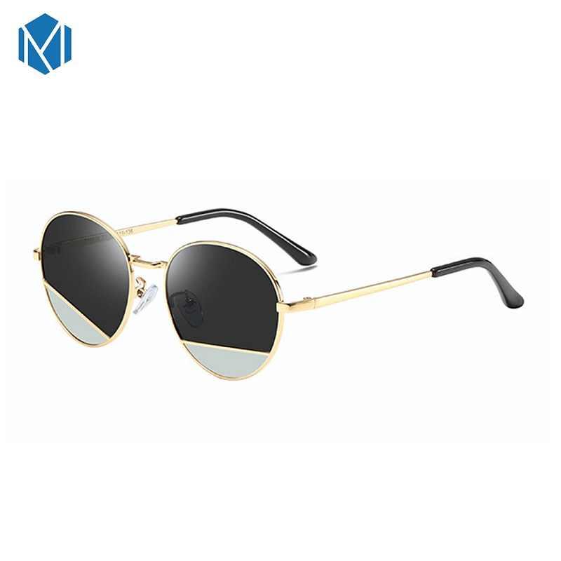 MISM ילדי אופנה עגול משקפי שמש 6 כדי 8 שנים ילדים העין ללבוש מקוטב אור שמש משקפיים ילדה זהב מתכת gafas דה סול