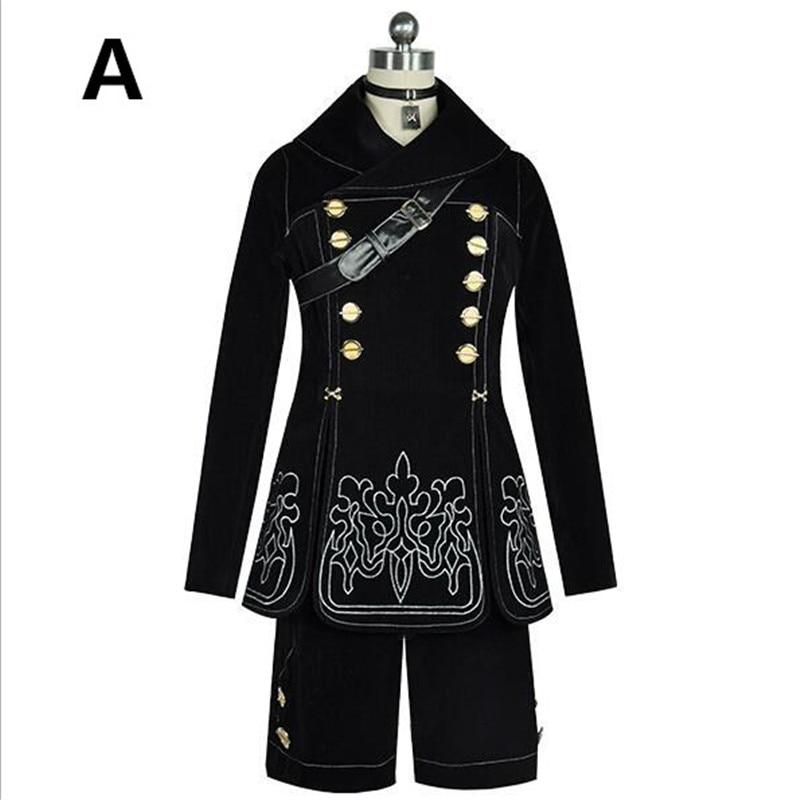 NieR: Automata YoRHa No.2 Type B Cosplay Dress and YoRHa No. 9 Type S Uniforms NieR : Automata 2B 9S Cosplay Costume A421