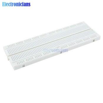 MB102 MB-102 MB 102 placa de circuito impreso sin soldadura 830 puntos de corbata blanco para Arduino Shield KIT de Inicio DIY