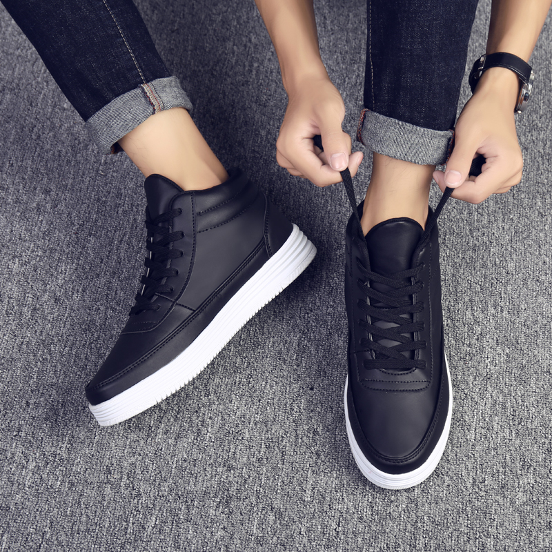 2018 Men Lace Up Fashion Sneakers Mesh Breathable Comfortable high top Shoes Male Lightweight Super Soft Shoe Hot
