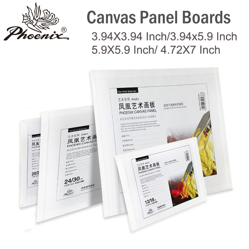 Mini Painting Canvas Panel Boards for Acrylic Oi Paint Acid Free White Cotton Multi Size for beginner Artists Students & Kids image