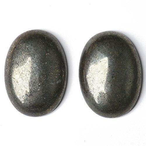 Натуральный камень каменный Агат e Кабошон бусины 22*30 мм плоское дно драгоценный камень каменный Кабошон для изготовления ювелирных изделий 10 шт./партия - Цвет: pyrite 10pcs
