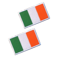 5pcs/lot Embroidery Patch Ireland National Flag Military Tactical Armband Fabric Sticker Sewing Applique For Clothing Cap Bag