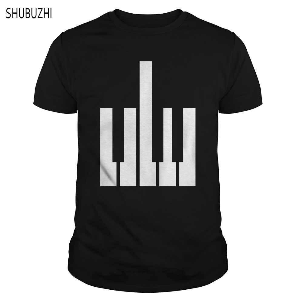 קיץ שחור t חולצה פסנתר חולצה מוסיקה להקת בדיחה טי מקלדת נגן מתנה מגניב חולצה אירו גודל למעלה tees sbz436