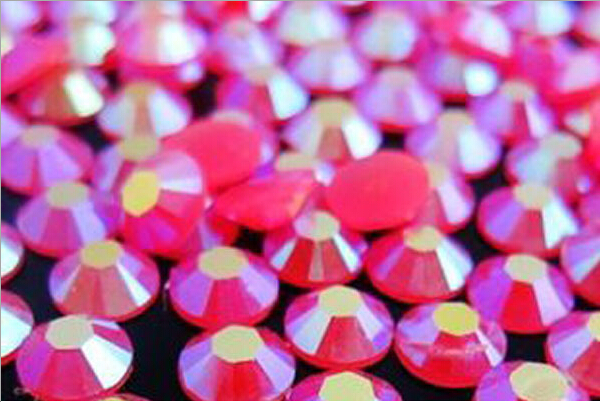 4mm Jelly Rose AB Color,SS16 crystal Resin rhinestones flatback,Free Shipping 50,000pcs/bag