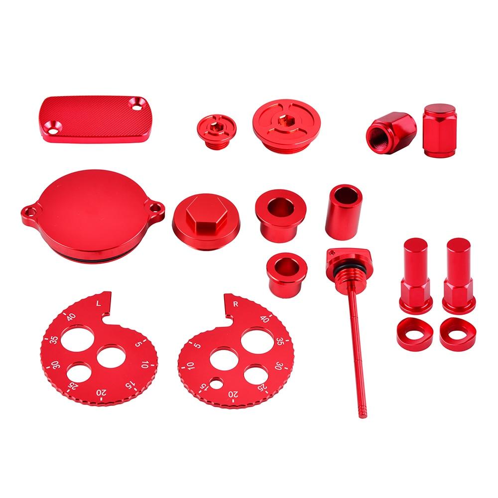 CNC Chain Adjuster Oil Dipstick Wheel Spacer Rim Lock Nuts Valve Stem Cap Crankcase Plugs For Honda CRF230 2003 2017 CRF 230