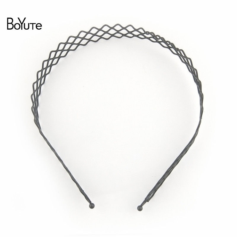 BoYuTe Retail 1 Piece Metal Black Hair Band Hairband New Style Black Color Metal Headband (7)