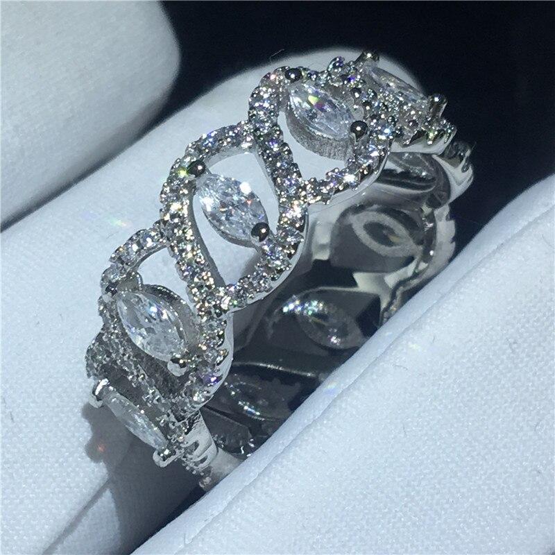 Design élégant bague en argent sterling 925 AAAAA zircon cubique bagues de fiançailles pour femmes bijoux de mariée cadeau