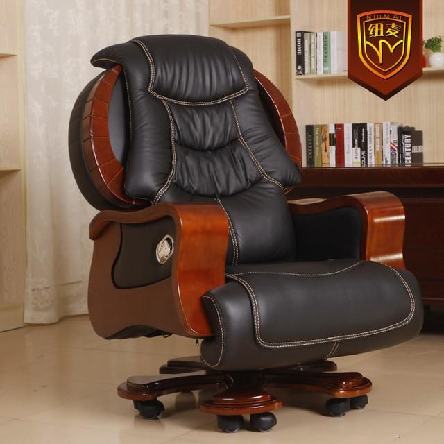 Tapicería de cuero de lujo reclinables sillas giratorias silla de ...