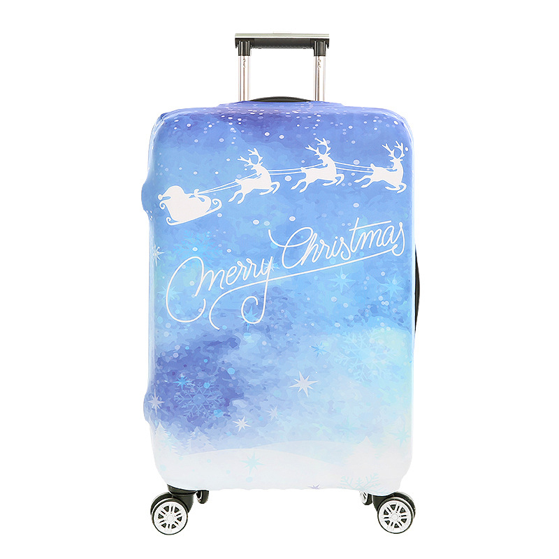 JULY'S SONG Christmas Deer Travel Protective Cover Luggage Suitcase Cover Trolley Cover Apply To 18~32 Inch CaseTravel Accessory