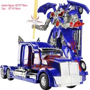 Image 5 - Hot البيع 45 سنتيمتر Robocar التحول الروبوتات نموذج سيارة اللعب الكلاسيكية عمل الشكل هدايا للأطفال ألعاب للأولاد الموسيقى نموذج سيارة