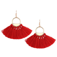 цена на 6 Colors Ethnic Bohemian Tassel Earrings Red Tassel Dangle Earrings for Women Boho Tassel Fringe Earrings Vintage Party Jewelry