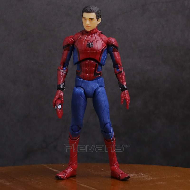 SHF S.H.Figuarts Spider Man Homecoming Ver. PVC Action Figure Collectible Model Toy 14cm shfiguarts superman shf figuarts in justice ver pvc action figure collectible model toy