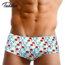 Taddlee Brand Sexy Mens Swimwear Swimsuits Swim Boxer Trunks Shorts Surf Board Shorts Men swimming Briefs Bikini Gay Europ Size