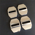 4pcs Stainless Steel Car Door Lock Buckle Striker Cover Sticker For Mercedes A B CLA GLA Class W176 W246 C117 W117 X156