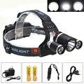 Brightness 8000LM 3x T6 LED Headlamp Headlight Head Torch Camping Light USB+2x18650+2xCharger