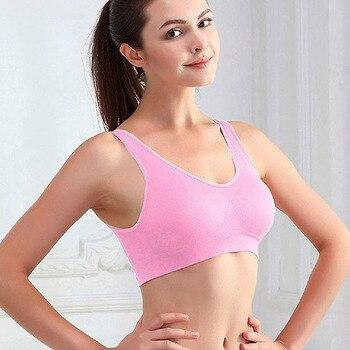 Sujetadores activos inalámbricos para mujeres, para ejercicio deporte, Yoga, gimnasio, correr, sin alambre, sujetador de realce de talla grande, S-XXXL BH, lencería, ropa interior en 7 colores