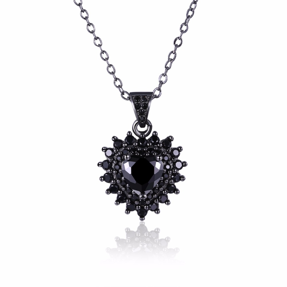 Style 123319 Diamontrigue Jewelry: New Luxury Women Gothic Style Black Zircon Necklace
