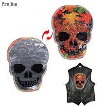 Sequins Jackets Sticker Jeans Applications Flower Patch-Red-Leaf Flame Skull Prajna
