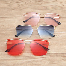 644995c75a8bd Sem aro Pequeno lente clara óculos de Sol Olho de Gato Óculos De Sol Das  Mulheres Da Moda de Luxo Senhoras FML Estreito Quadro P..