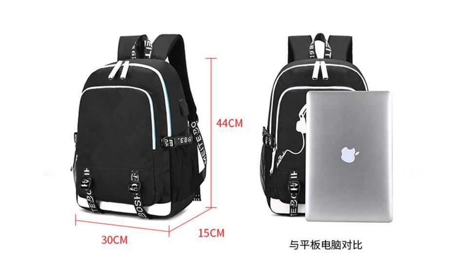 7a75bdcdde15 2019 New Hot USB charging backpack Kids Boys Children School Bags teenagers  Men travel Laptop Bags HOT Game Roblox backpack