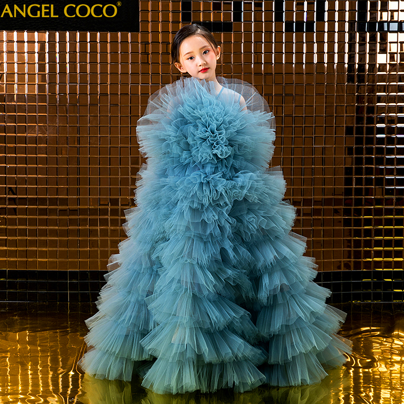 5-14 Years Kids Dress for Girls Wedding Tulle Lace Long Girl Dress Elegant Princess Party Pageant Formal Gown for Teen Children 5-14 Years Kids Dress for Girls Wedding Tulle Lace Long Girl Dress Elegant Princess Party Pageant Formal Gown for Teen Children
