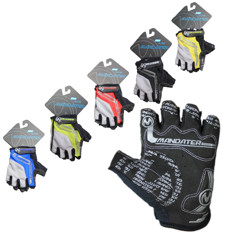 New Cycling Bike Bicycle Ultra-breathable Shockproof Half Finger Glove Black