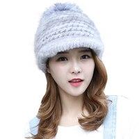 2019 The new female mink hat warm winter hat mink fur hat visor cap import special offer free shipping