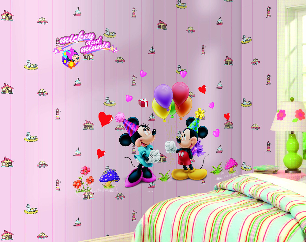 aliexpress com buy cute cartoon mickey mouse colorful home decor aliexpress com buy cute cartoon mickey mouse colorful home decor baby love kids room decoration diy wall stickers removable nursery decal sticker from