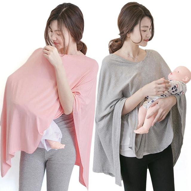 Breastfeeding Nursing Covers Apron Pink/Grey