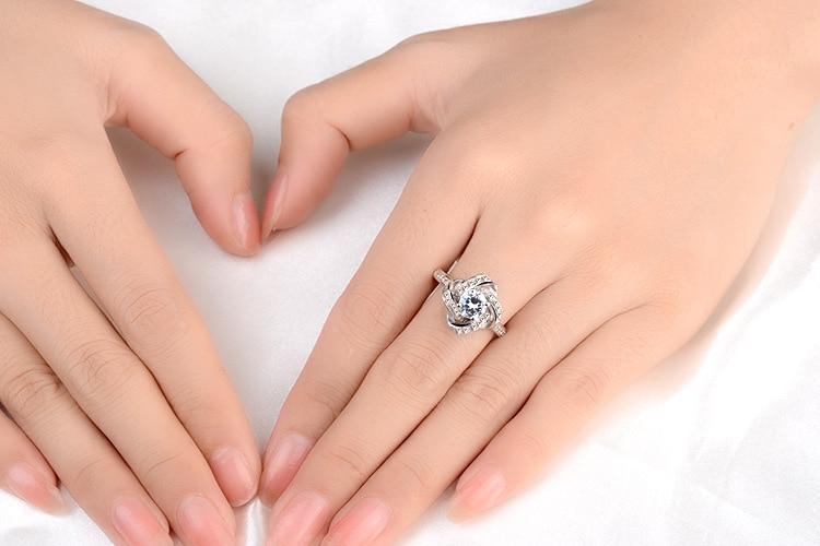 DIEERLAN 19 Bridal Jewelry Sets 925 Sterling Silver Crystal Cross Clover Flower Necklaces for Women Wedding Jewelry Bijoux 8