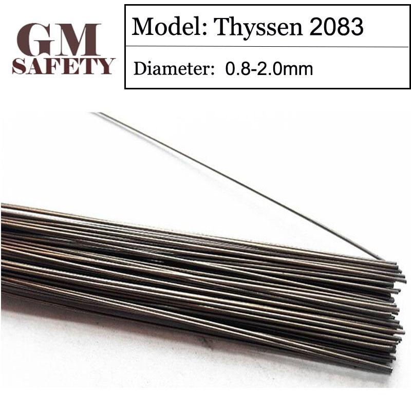 1KG/Pack GM Thyssen 2083 TIG Welding wires&Repairing Mould argon Soldering Wire for Argon arc Acid (0.8/1.0/1.2/2.0mm)F116 wp 17f sr 17f tig welding torch complete 26feet 8meter soldering iron flexible