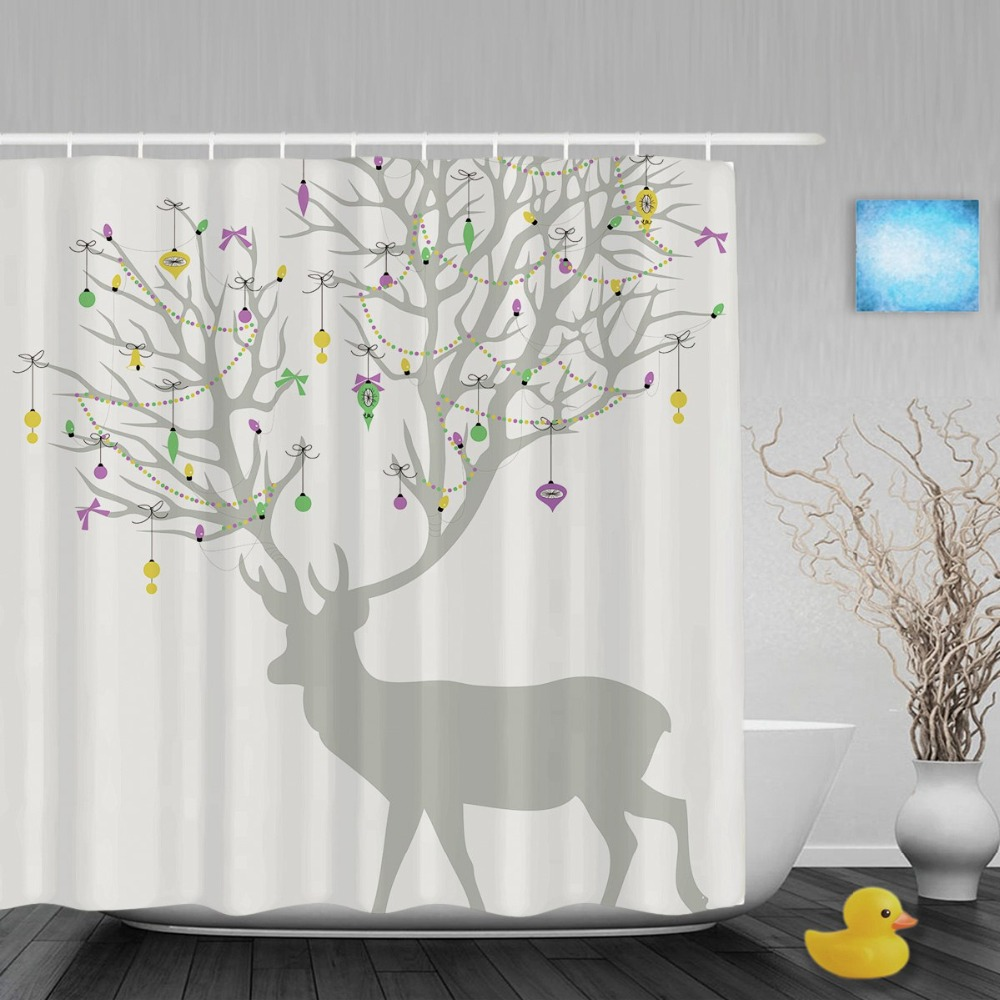 popular holiday shower curtain-buy cheap holiday shower curtain