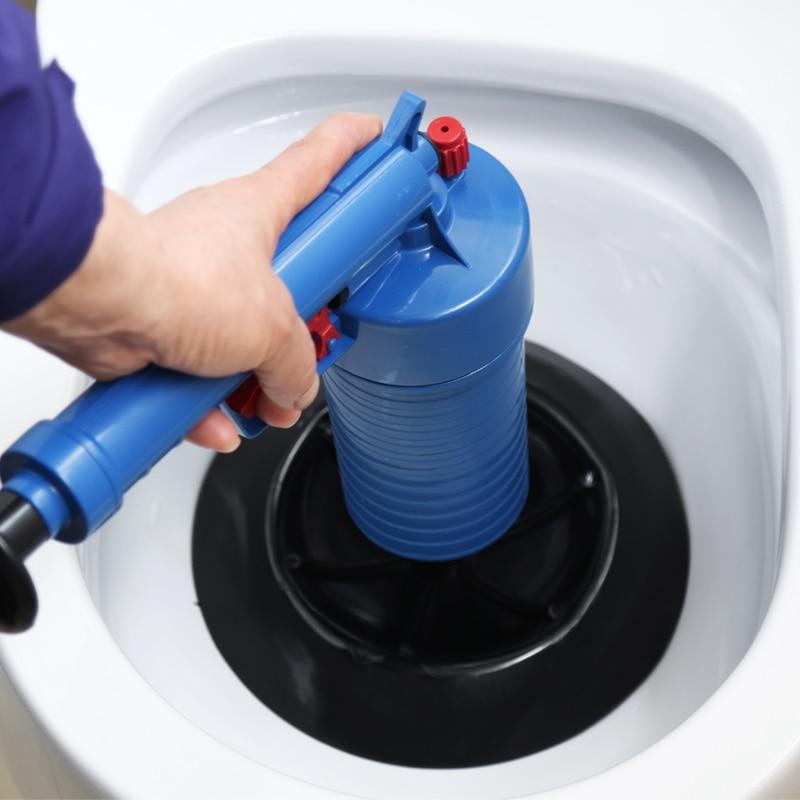 Air Power Drain Blaster Gun High-Pressure Powerful Manual Sink Plunger Opener