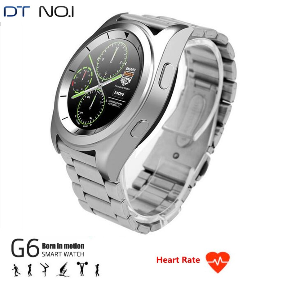 New Sports Smart Watches DTNO.1 G6 Smartwatches MT2502 Bluetooth 4.0 Sleep Track Heart Rate Monitor Remote Control Android IOS