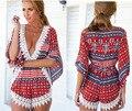 2016 Macacão de Verão Das Mulheres 9 Estilos V Neck Irregular Crochê Praia Macacão Curto Sexy Costura Rendas Playsuits Macacão Senhoras